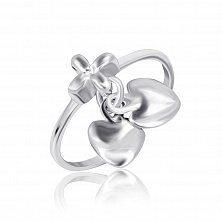 Серебряное кольцо Звуки сердца