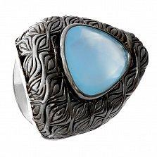 Серебряное кольцо Порту с халцедоном