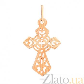 Крестик из красного золота Солнечный SUF--504002