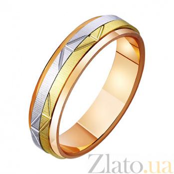 Обручальное кольцо из комбинированного золота Графика TRF--471178