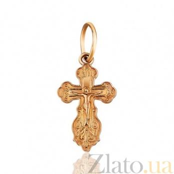 Крест золотой Ажур EDM--КР0142