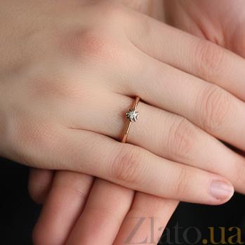 Золотое кольцо с бриллиантом Мгновение счастья VLA--10990