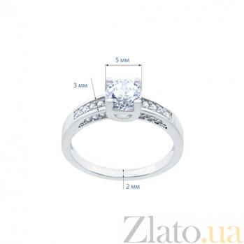 Кольцо на помолвку из серебра с фианитами Санта-Лючия AQA--HR-08