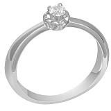 Помолвочное кольцо из белого золота с бриллиантом Амур