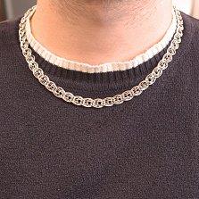 Серебряная цепь Значимость в плетении нонна бисмарк, 9мм