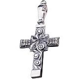 Крест из серебра Очищение с чернением