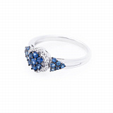 Золотое кольцо Дениза с сапфирами и бриллиантами