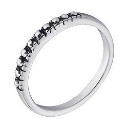 Серебряное кольцо Извив с чернением