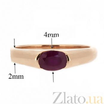 Золотое кольцо из красного золота с рубином Зафира ZMX--RR-15790_K