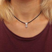Кулон-шарм из серебра Крылья ангела