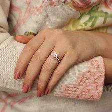Серебряное кольцо Акварель с белыми фианитами