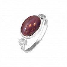 Серебряное кольцо Знак отличия с улекситом и цирконием