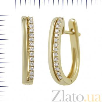 Серьги из желтого золота Мирелла с бриллиантами 000081236