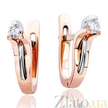Золотые серьги с бриллиантами Музыка ветра EDM--С7407
