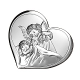 Католическая икона Ангел-Хранитель на деревянной подложке, 15,5х14см
