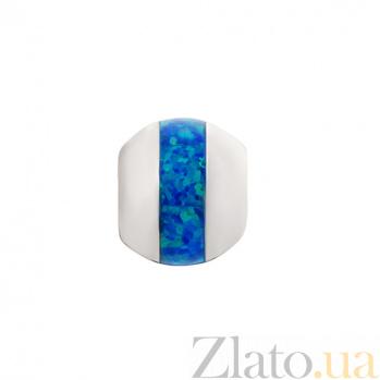 Серебряный шарм с синтезированным опалом Берлинская лазурь 000032391