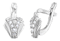 Серебряные сережки с фианитами Победа SLX--С2Ф/023