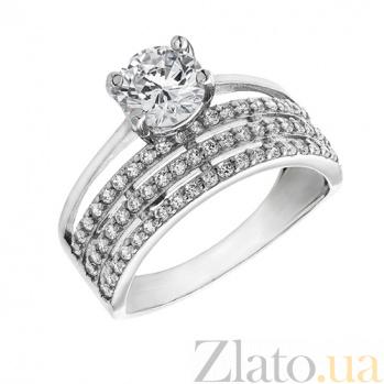 Серебряное кольцо с фианитами Азурия AUR--71418б