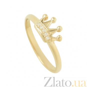 Золотое кольцо с фианитами Принцесса 2К220-0210