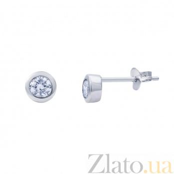 Серебряные серьги гвоздики Люсия AQA--2201392