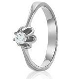 Золотое кольцо с кристаллом Swarovski Жасмин