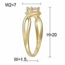 Кольцо из желтого золота Легкость танца с бриллиантом
