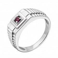 Серебряный перстень с рубином Ричард