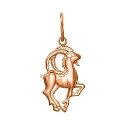 Кулон из красного золота Знак Зодиака Козерог 000121458