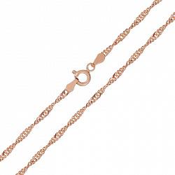 Серебряная цепь Фламенко с позолотой, 1,5 мм