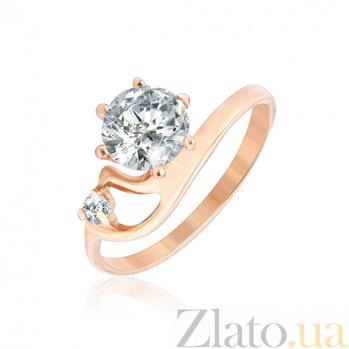 Серебряное кольцо с позолотой и фианитами Сафанур 000025592