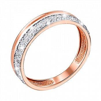 Золотое кольцо с кристаллами циркония 000104491