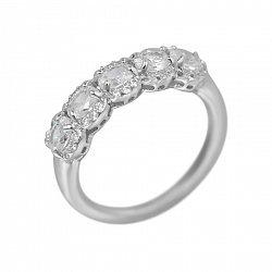 Серебряное кольцо Амалия с фианитами