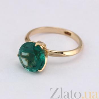 Золотое кольцо Азиза с синтезированным аметистом VLN--112-1589-55
