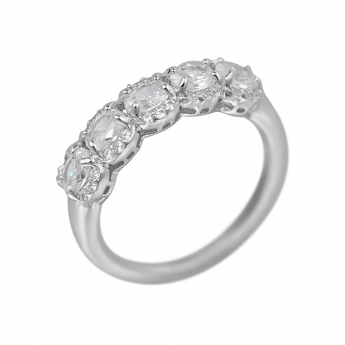 Серебряное кольцо Амалия с фианитами 000081617