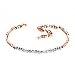 Золотой браслет в комбинированном цвете с бриллиантами 000131912