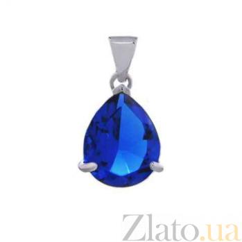 Серебряный кулон с синим цирконием AQA--230530073/9S
