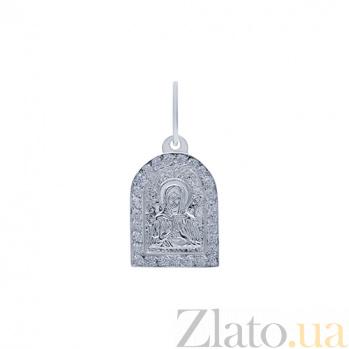 Серебряная ладанка с фианитами Умиротворение AQA--3314-ч