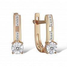 Серьги из золота с бриллиантами Орнелла
