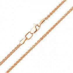 Золотая цепь в красном цвете в плетении колосок 000125627