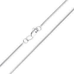 Цепочка из белого золота в плетении снейк 000117336, 1мм