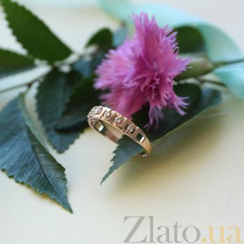 Золотое кольцо Мишель с фианитами EDM--КД0436