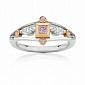 Кольцо Argile из белого и розового золота с бриллиантами и розовыми сапфирами  R-cjAr-W/R-5s-2d