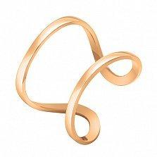 Кольцо Стиль в розовом золоте