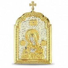 Позолоченная серебряная икона Умиление