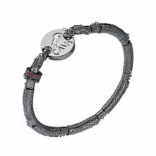 Серебряный браслет для шармов Хранитель сокровищ (драконы)
