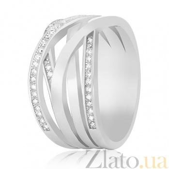 Серебряное кольцо Рошель с фианитами 000030912