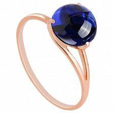 Золотое кольцо Селесте с корундом