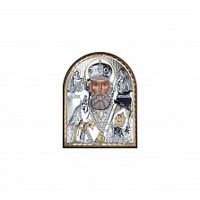 Икона Николая Чудотворца из серебра с позолотой