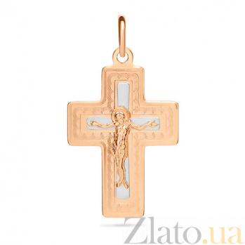 Золотой крестик Символ вечной жизни SUF--521141нр