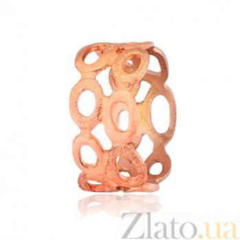 Позолоченное серебряное кольцо Легкая вуаль 000028227